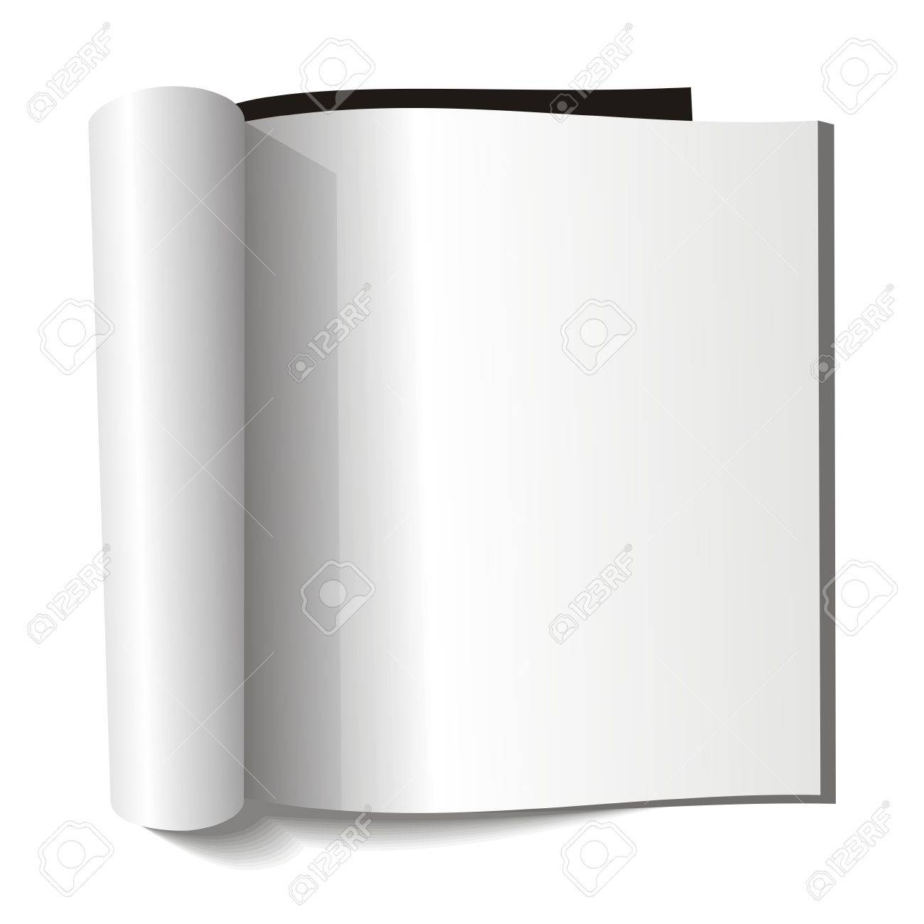 Blank magazine. Blank page. Stock Vector - 5379119