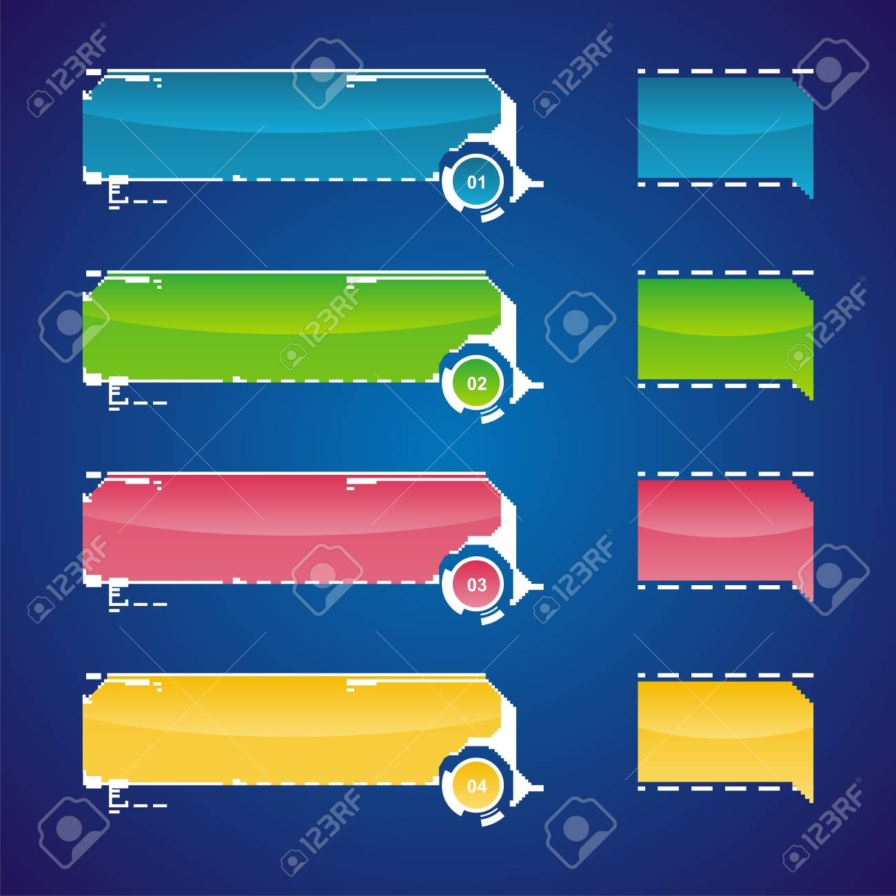 Vector illustration of website menu  in various colors. Stock Vector - 5761988