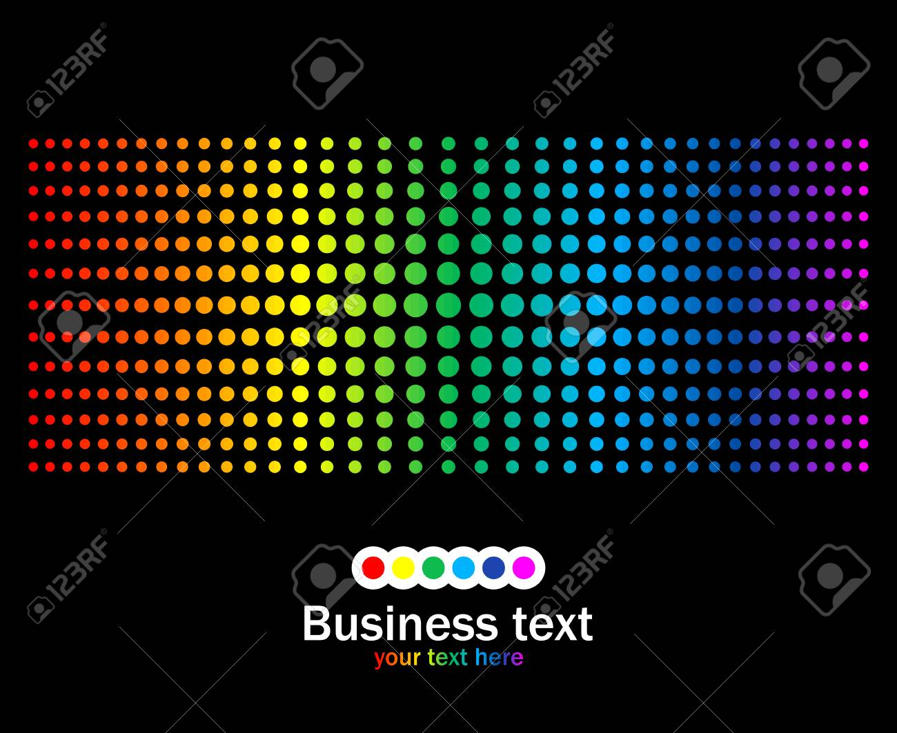 Abstract rainbow colours background. Stock Vector - 6729176