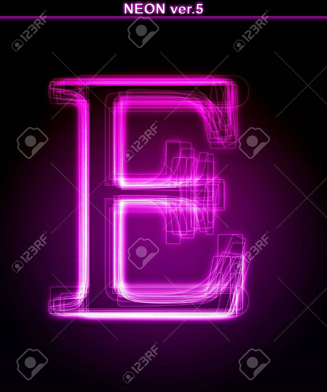 Background image e - Glowing Neon Letter On Black Background Letter E Full Font In Portfolio