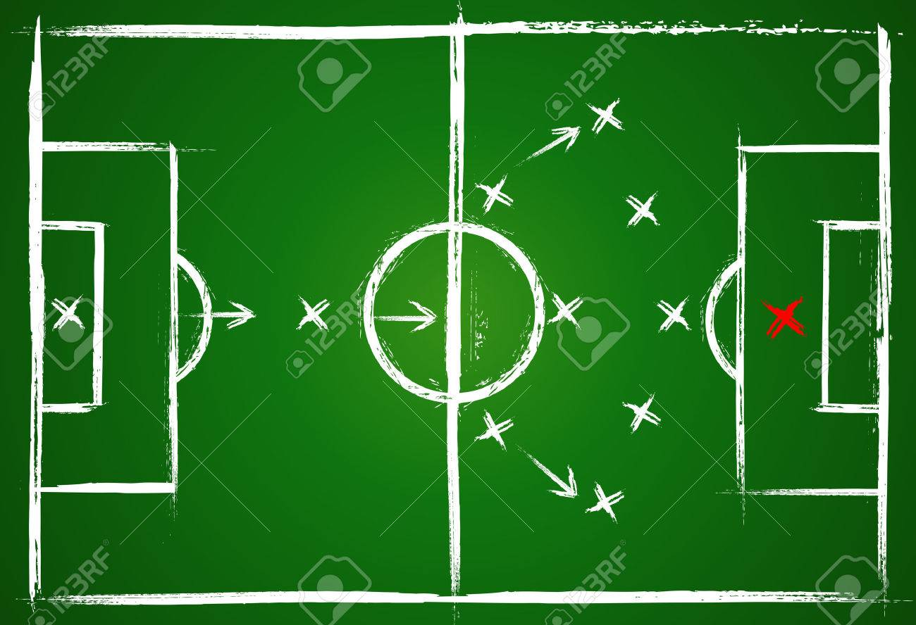 Football positions. Teamwork strategy. Illustration game. Vector  background. Stock Vector - 7845962