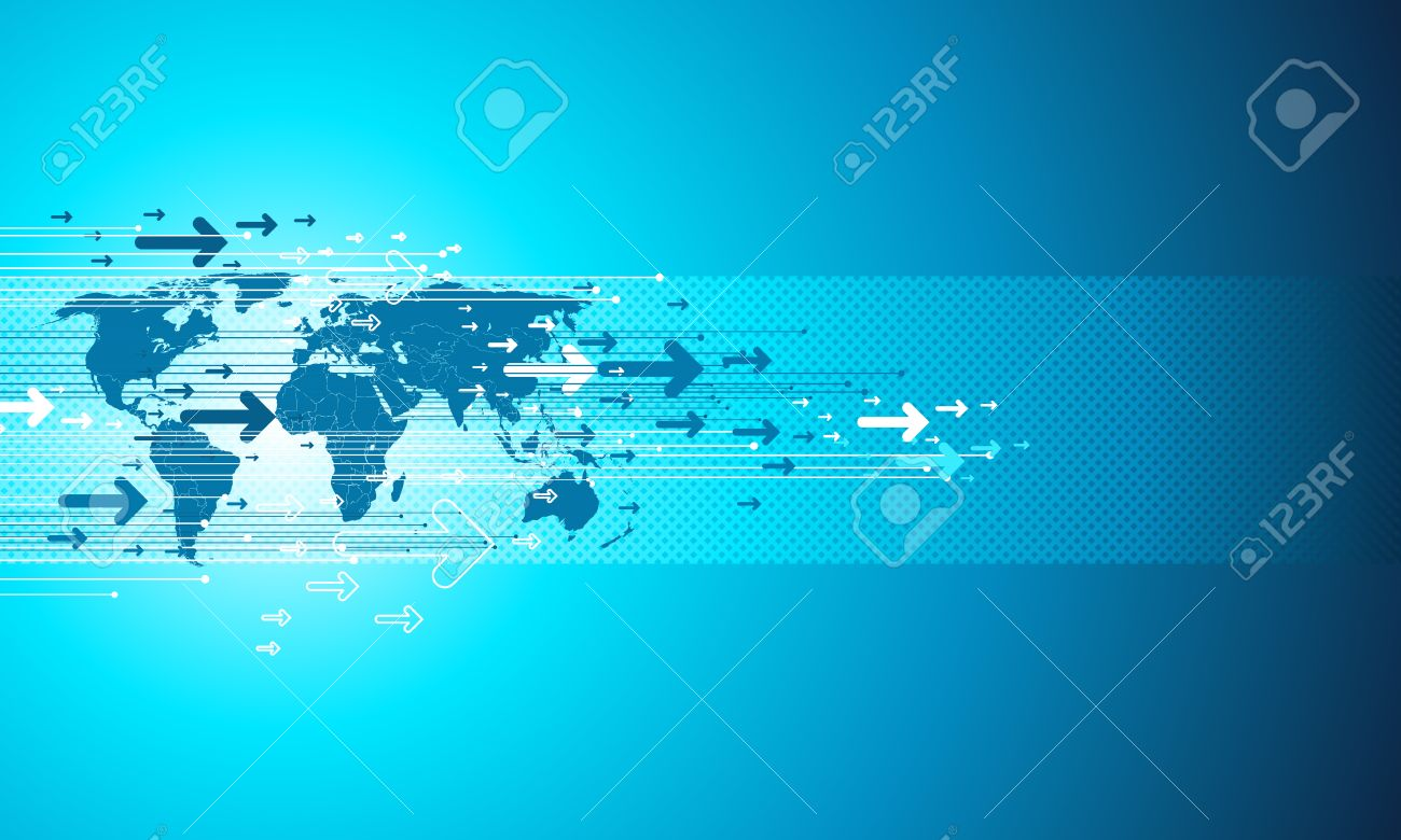 Map Site Business. Digital Template In Blue. Royalty Free Cliparts ...