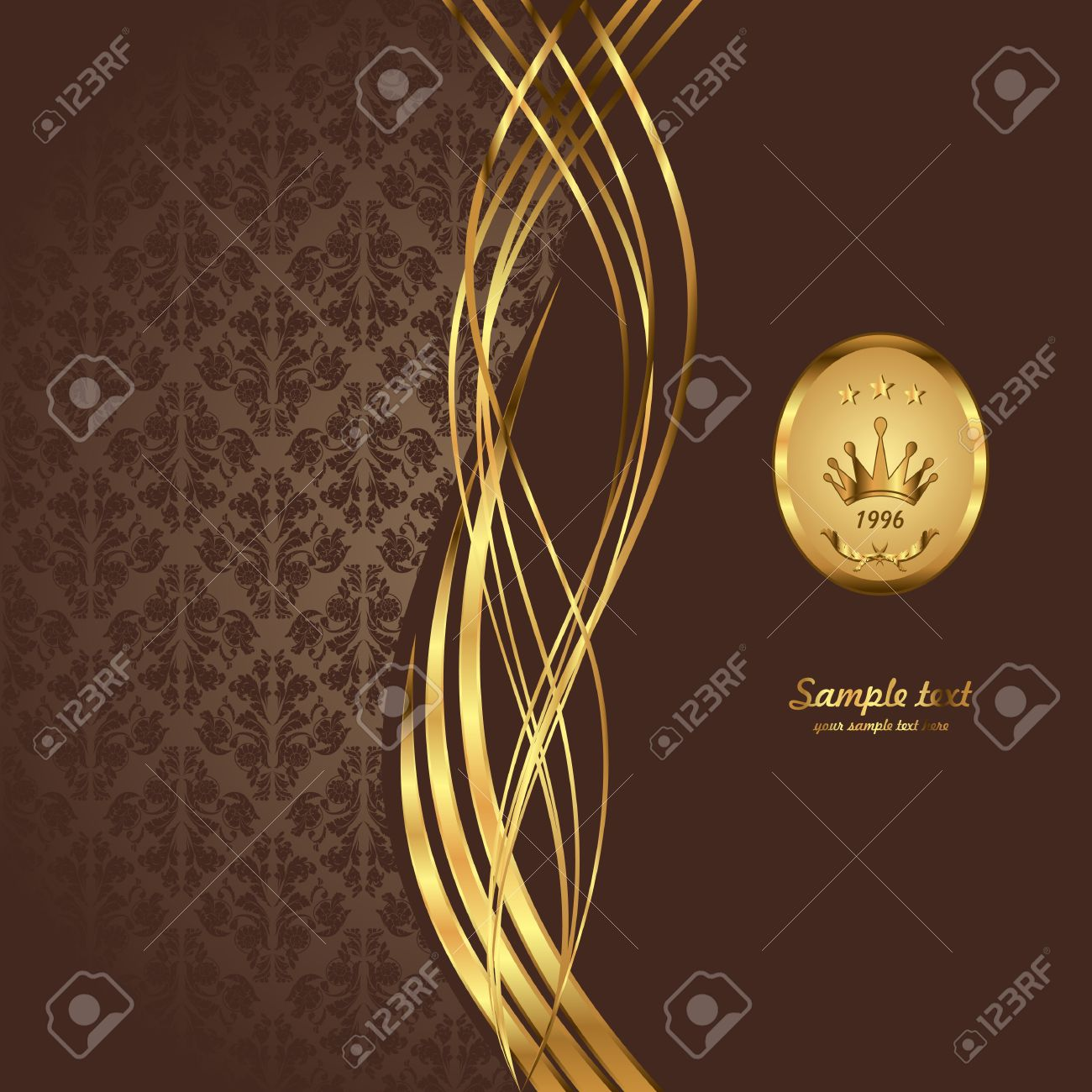 Gold background. Royal   background. Vintage style. Stock Vector - 7979705