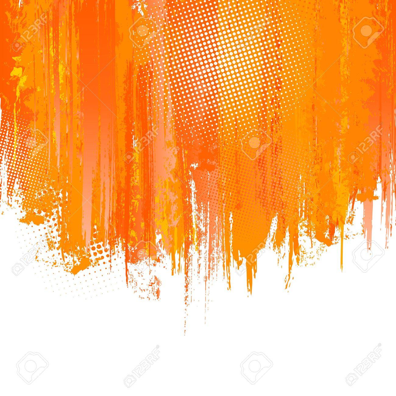 Orange Paint orange paint splashes background. vector background with place