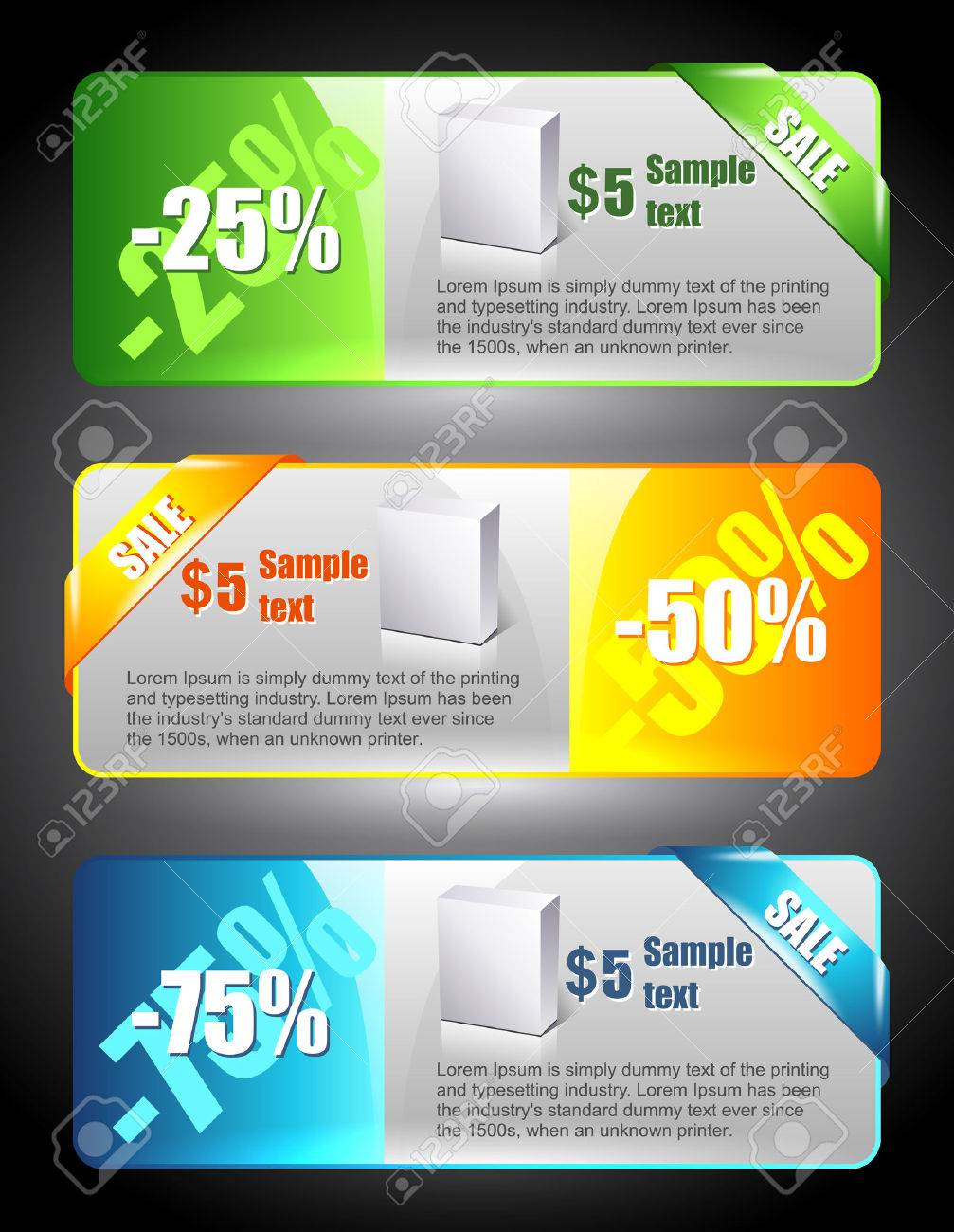 sale banners marketing illustration price sign discount