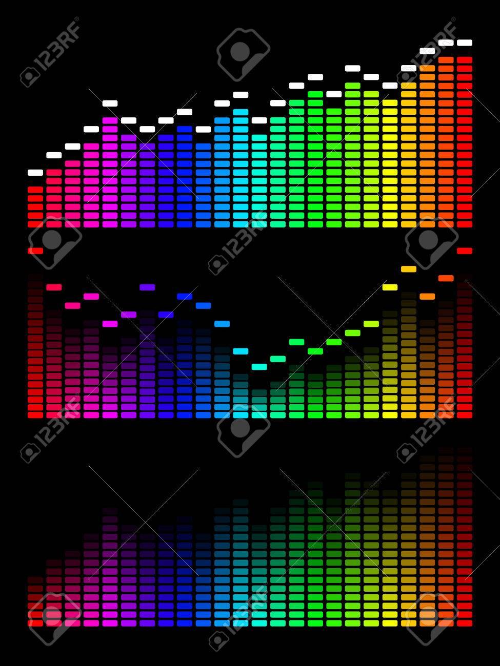 digital gradient equalizer. Volume wave background. Stock Vector - 8803642