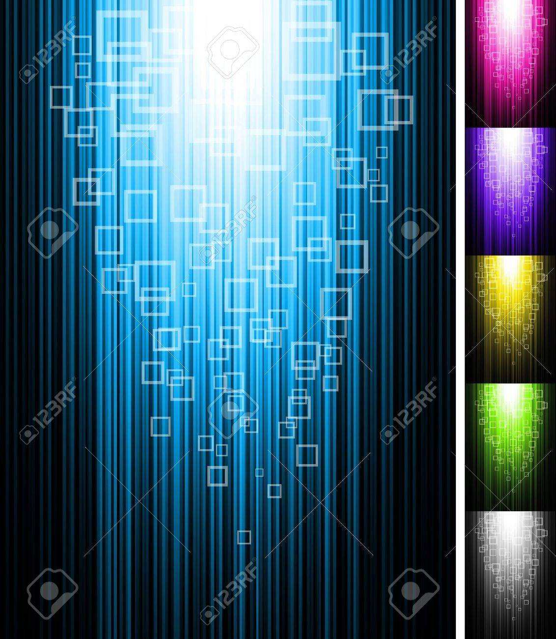 Line and rectangles shine vertical background. Abstract glowing vector illustration. Stock Vector - 11272882