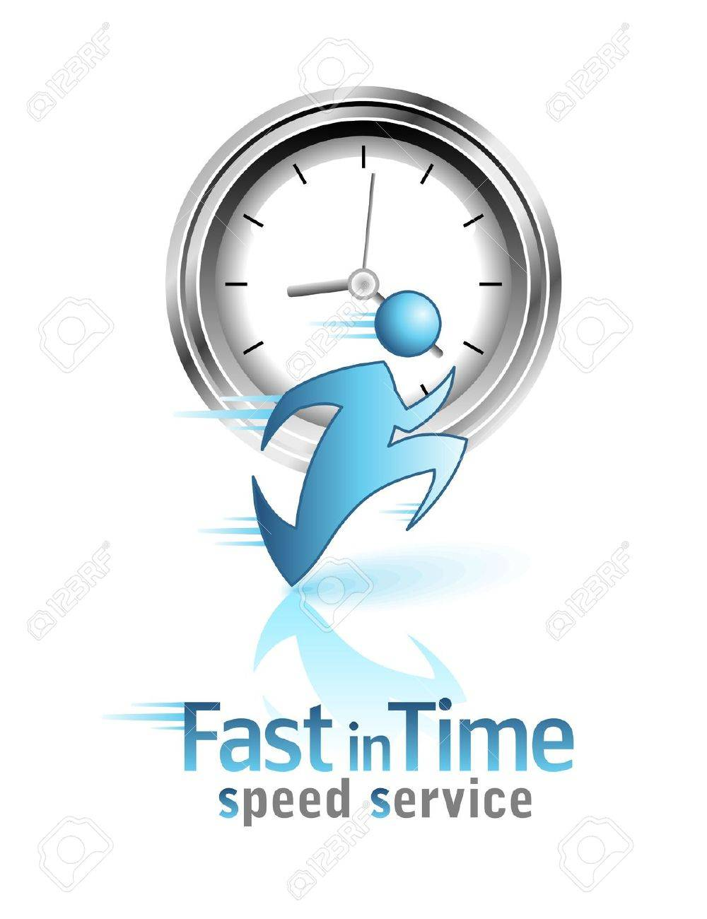 Fast in Time. Social icon. Running men. Stock Vector - 12810991