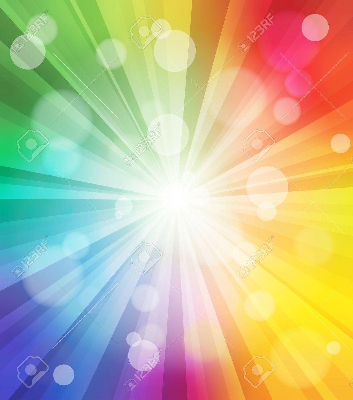 カラフルな光の効果の背景熱烈なイラストのイラスト素材ベクタ