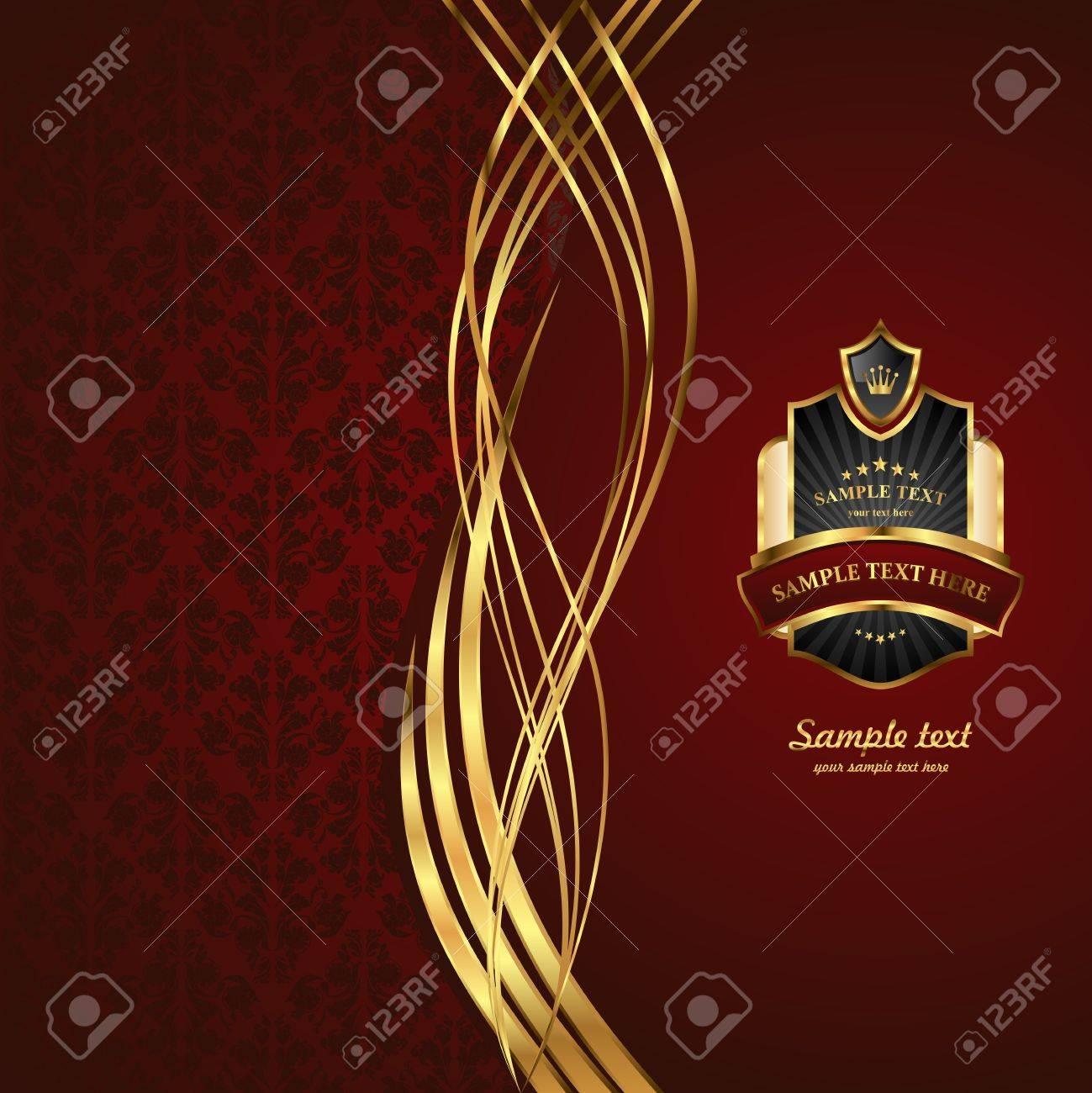 Gold background. Elegant vintage Illustration.image. Stock Vector - 14402570