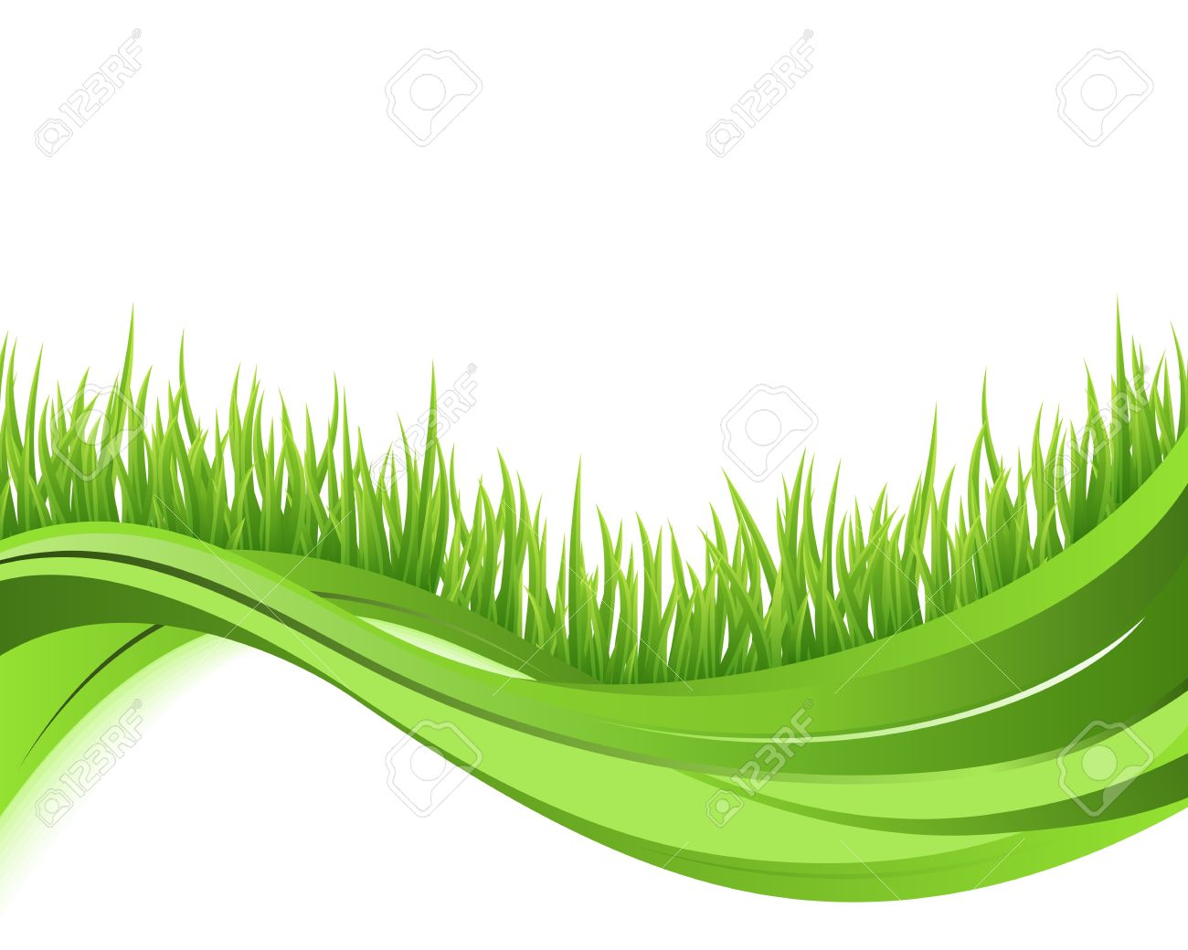 green grass nature wave background eco concept illustration stock vector 14799039