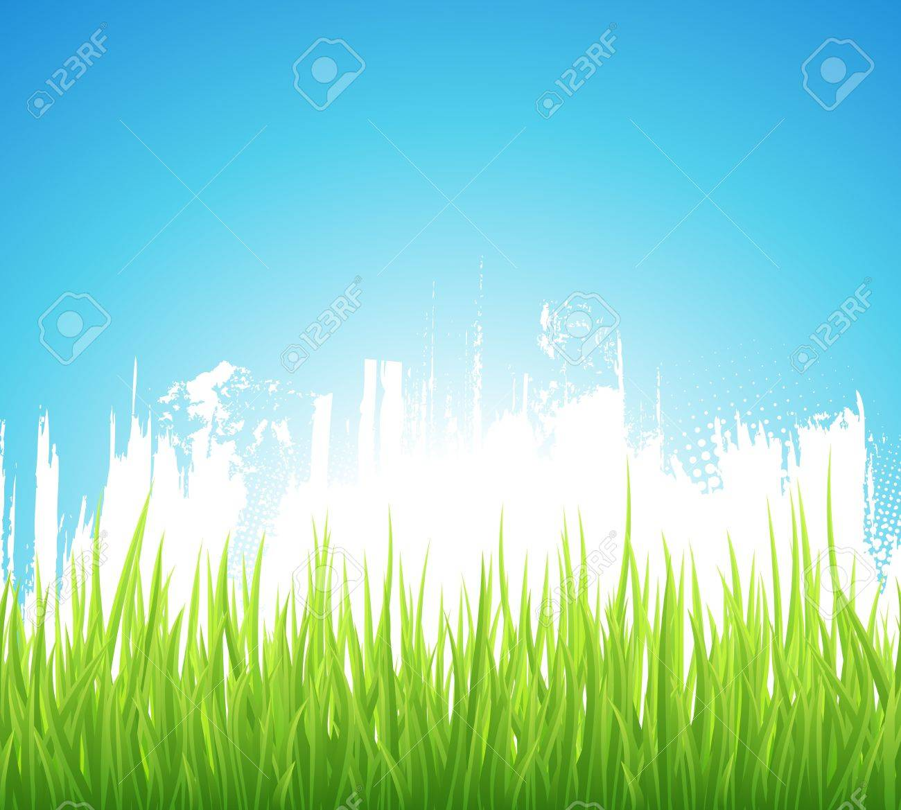 Green Spring background. Grunge design. Abstract backdrop with green grass. Stock Vector - 14799056