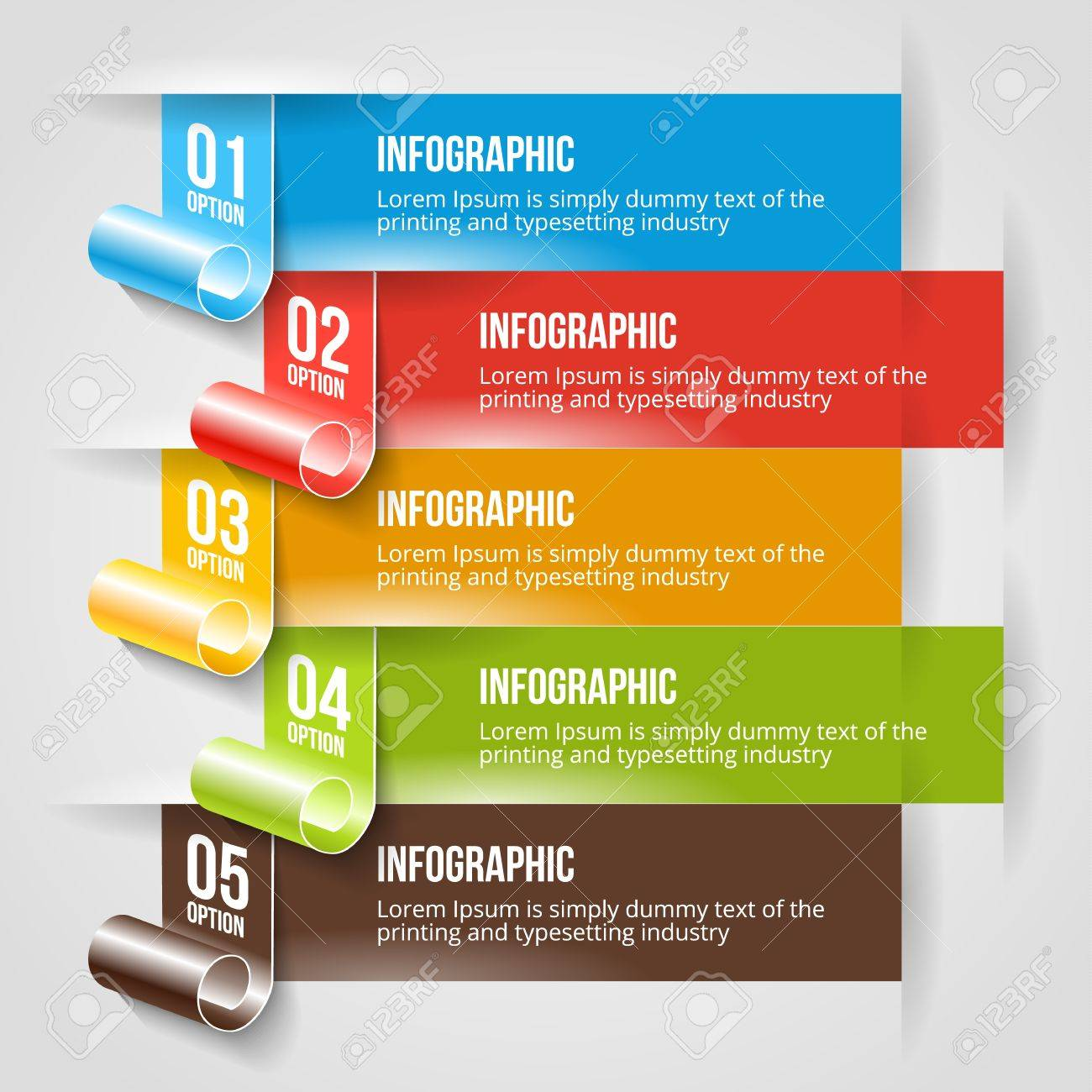 Design banner template - Modern Infographic And Options Banner Template Vector Web Design Layout Stock Vector 19007429