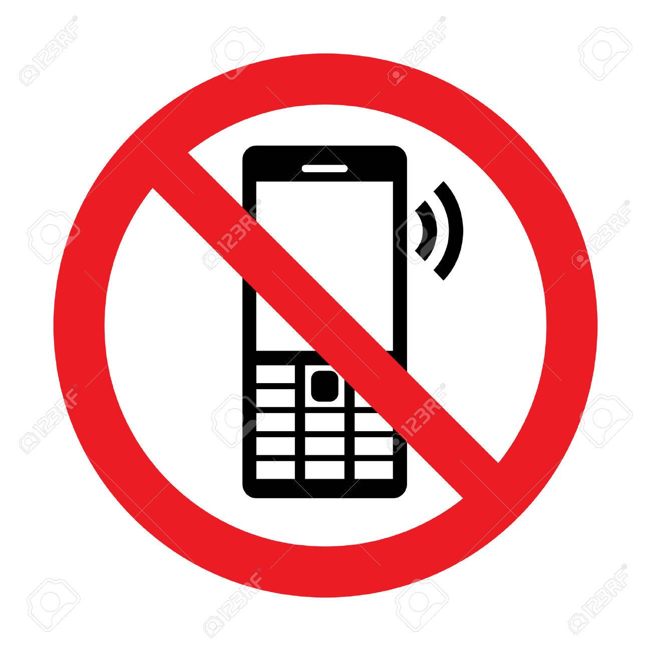 No Cell Phone Vector Sign - 31711845