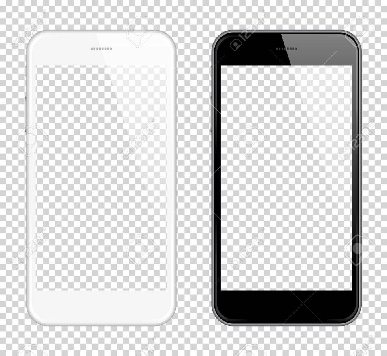 Realistic smart phone Vector Mock Up. Fully Re-size-able. Easy way to place image into screen Smartphone, for web design showcase, product, presentations, advertising in modern style. Smartphone - 64062861
