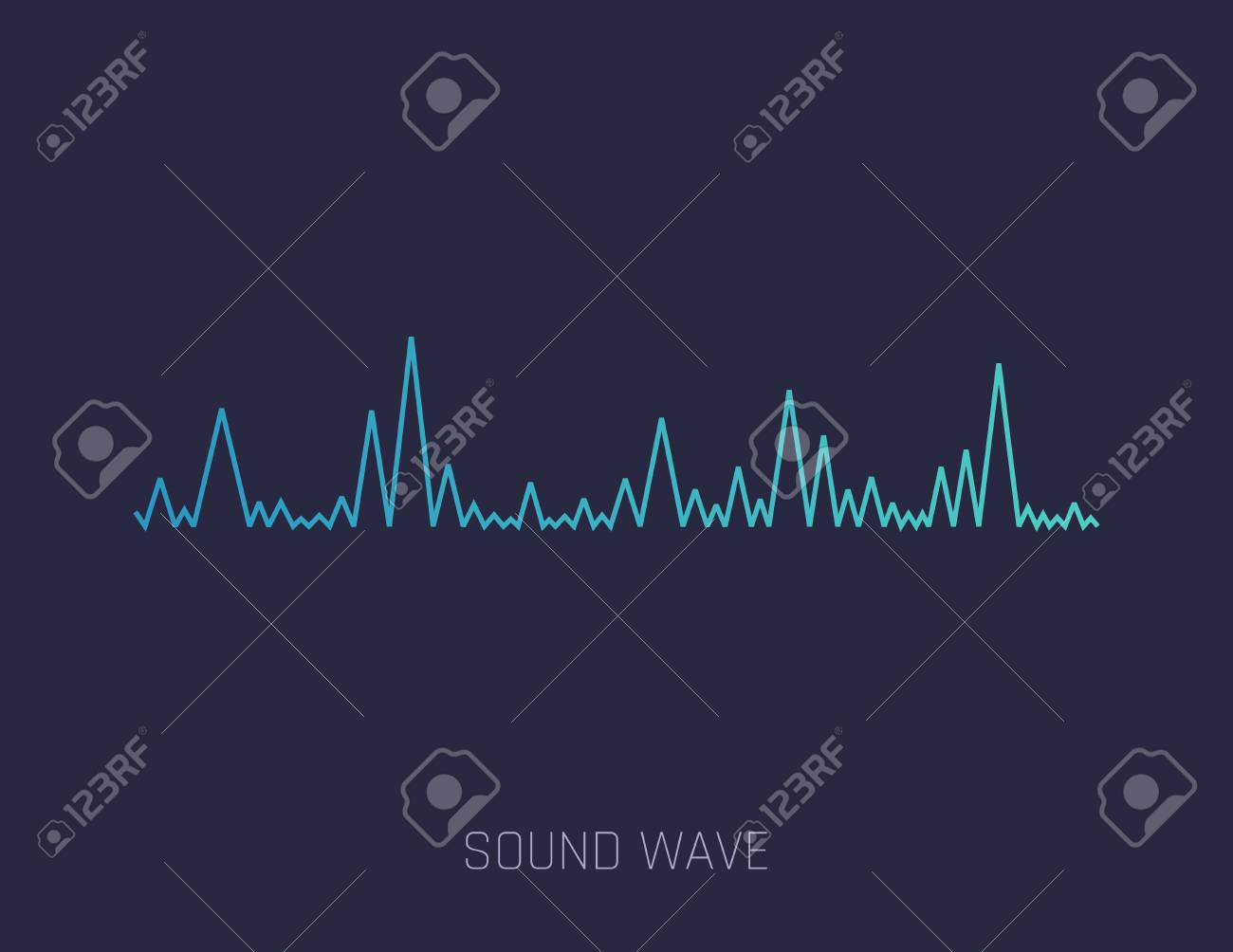 Vector Sound Wave  Colorful sound waves for party, DJ, pub, clubs,