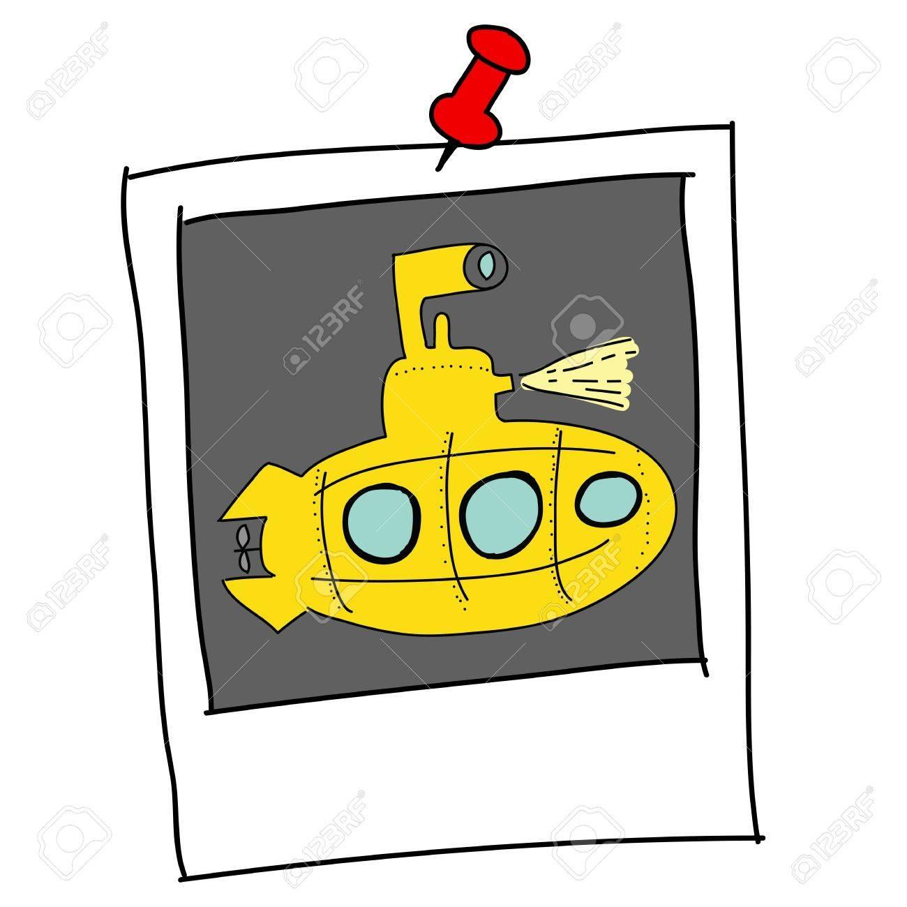 yellow Submarine Stock Vector - 16455355