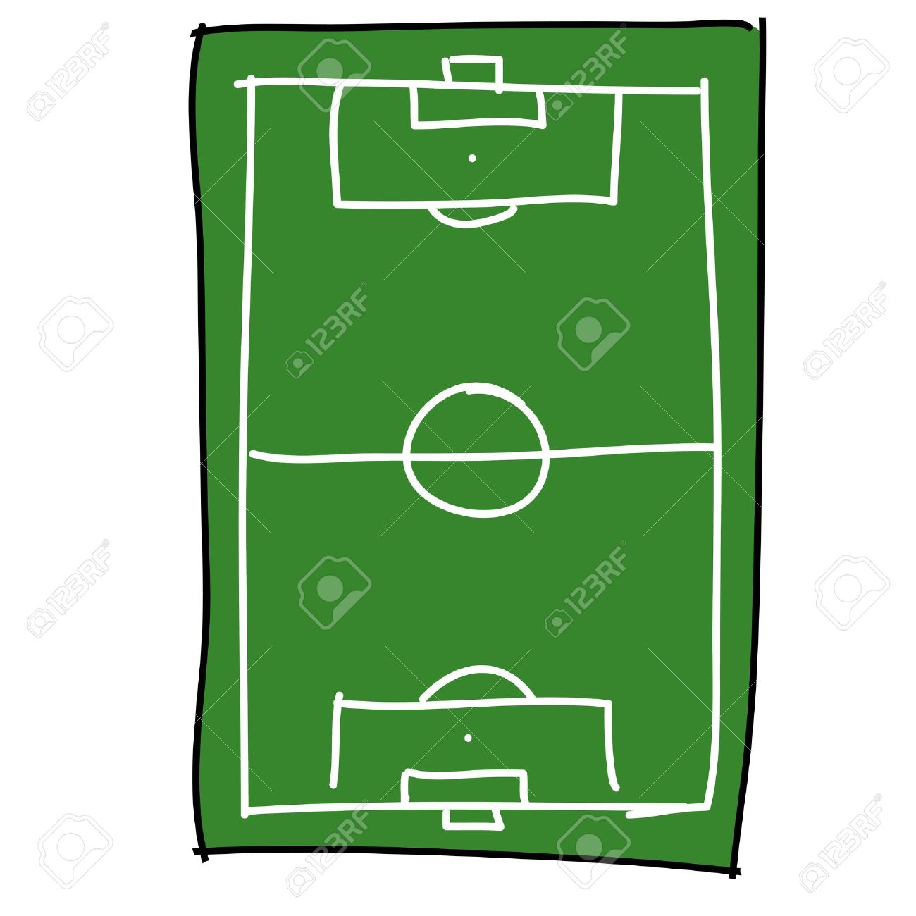 soccer field cartoon draw royalty free cliparts vectors and stock rh 123rf com football field vector art free football field clipart vector