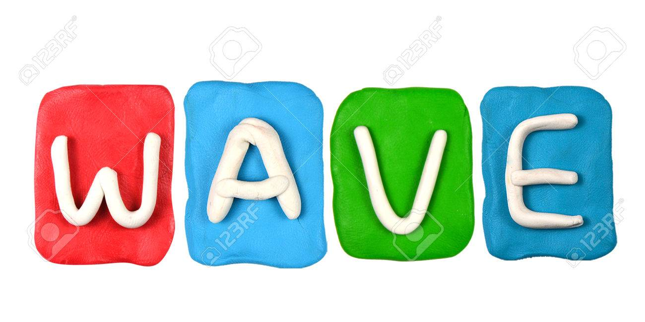 colorful plasticine alphabet form word wave stock photo picture and
