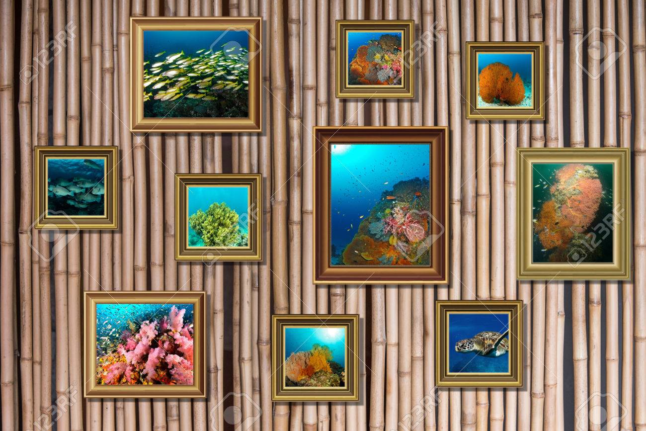 Background for collage photo frame