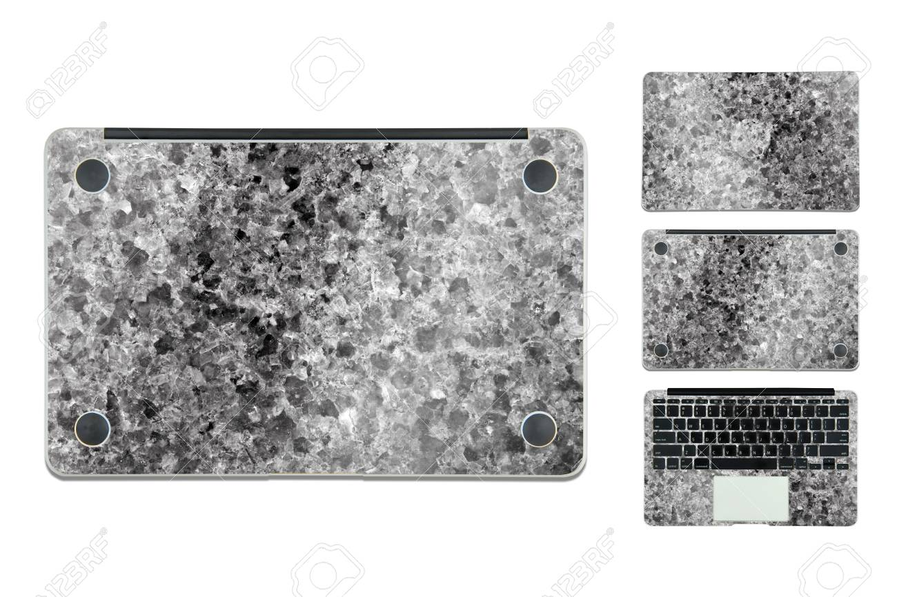 Marble Texture Case For Laptop On White Background Stock Photo Picture And Royalty Free Image Image 54931749