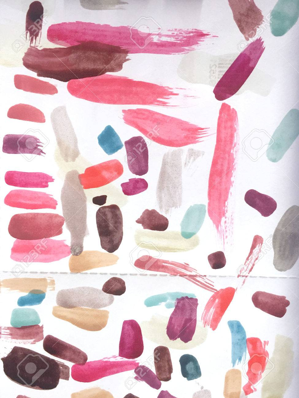 Nail Polish Samples On White Paper Stock Photo, Picture And Royalty ...