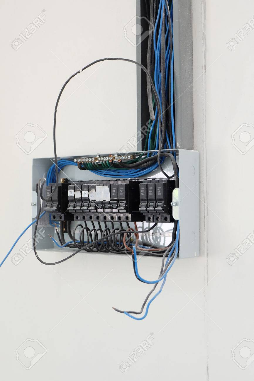 Wiring New House Technology Diagram Symbols Electrical In Code Setup The Control Cabinet At Stock Rh 123rf Com Home Construction