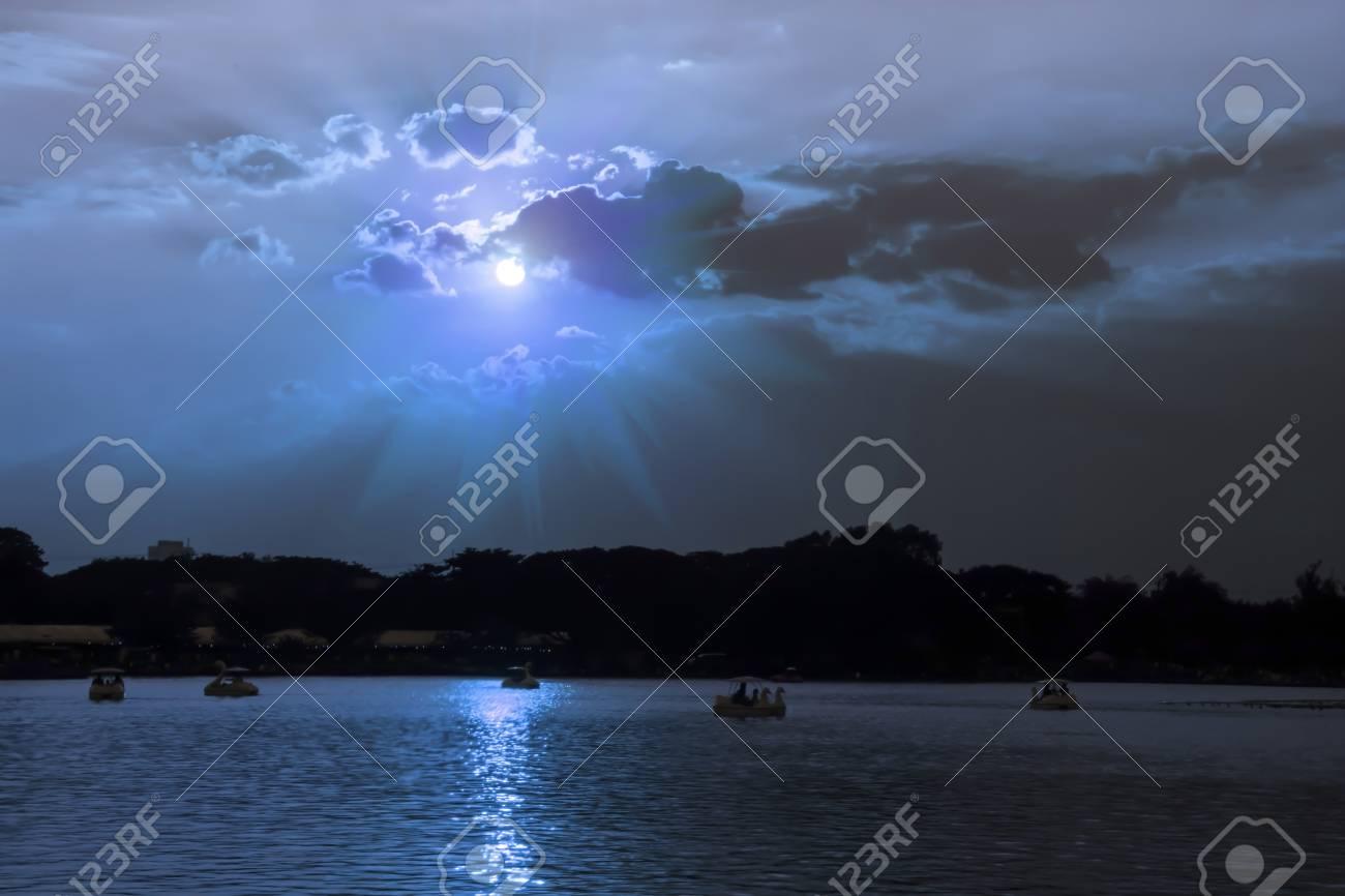 Landscape and nature blurred background sky backdrop for display