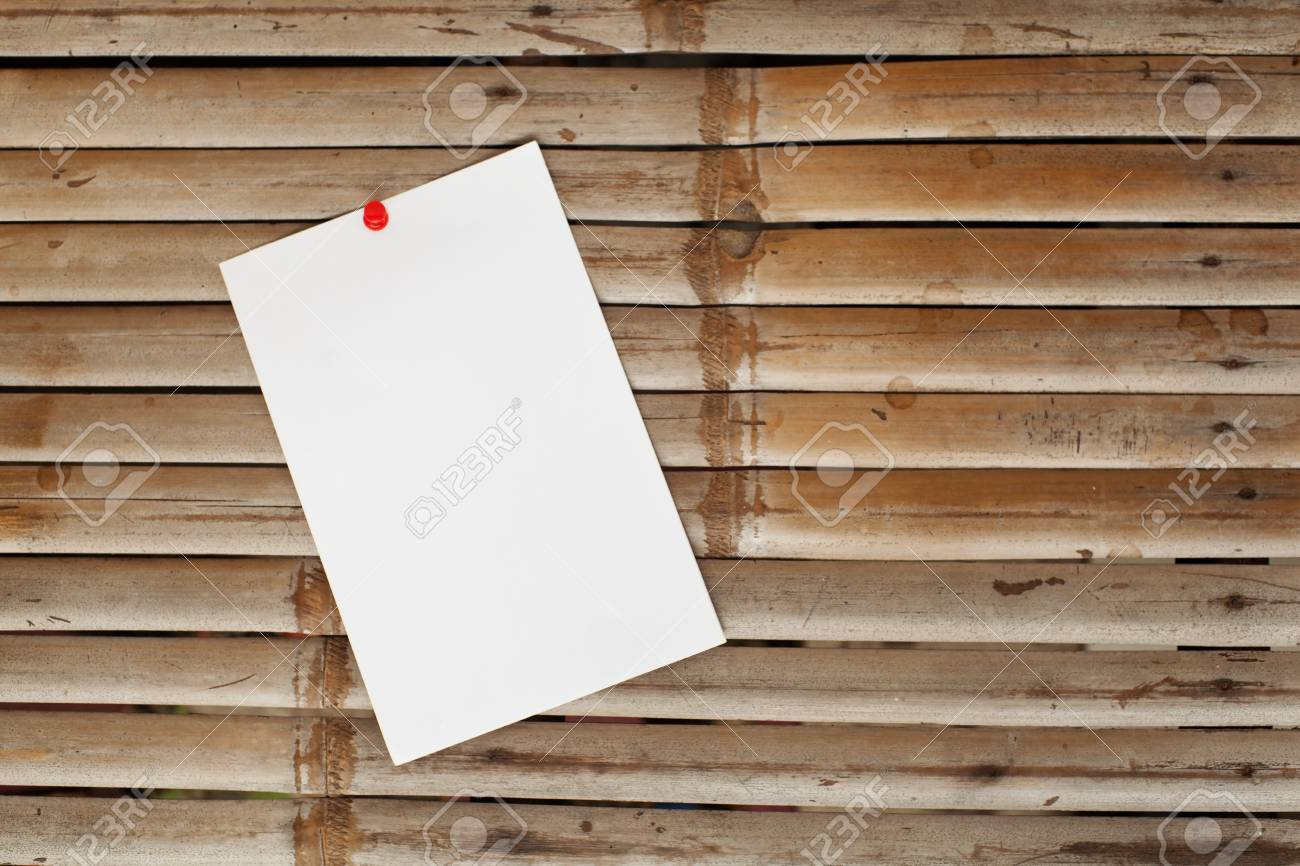 office paper on old bambo background Stock Photo - 15826126