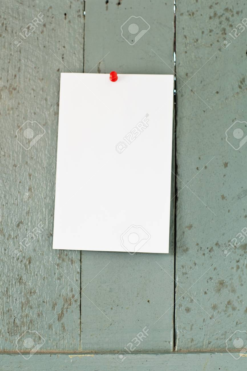 office paper on green wooden Stock Photo - 15826124