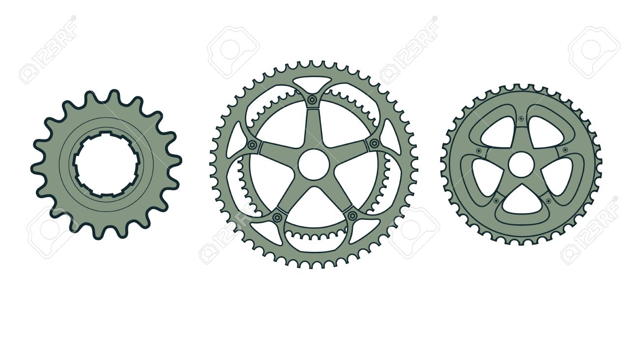 Bike Gear Set of three vector