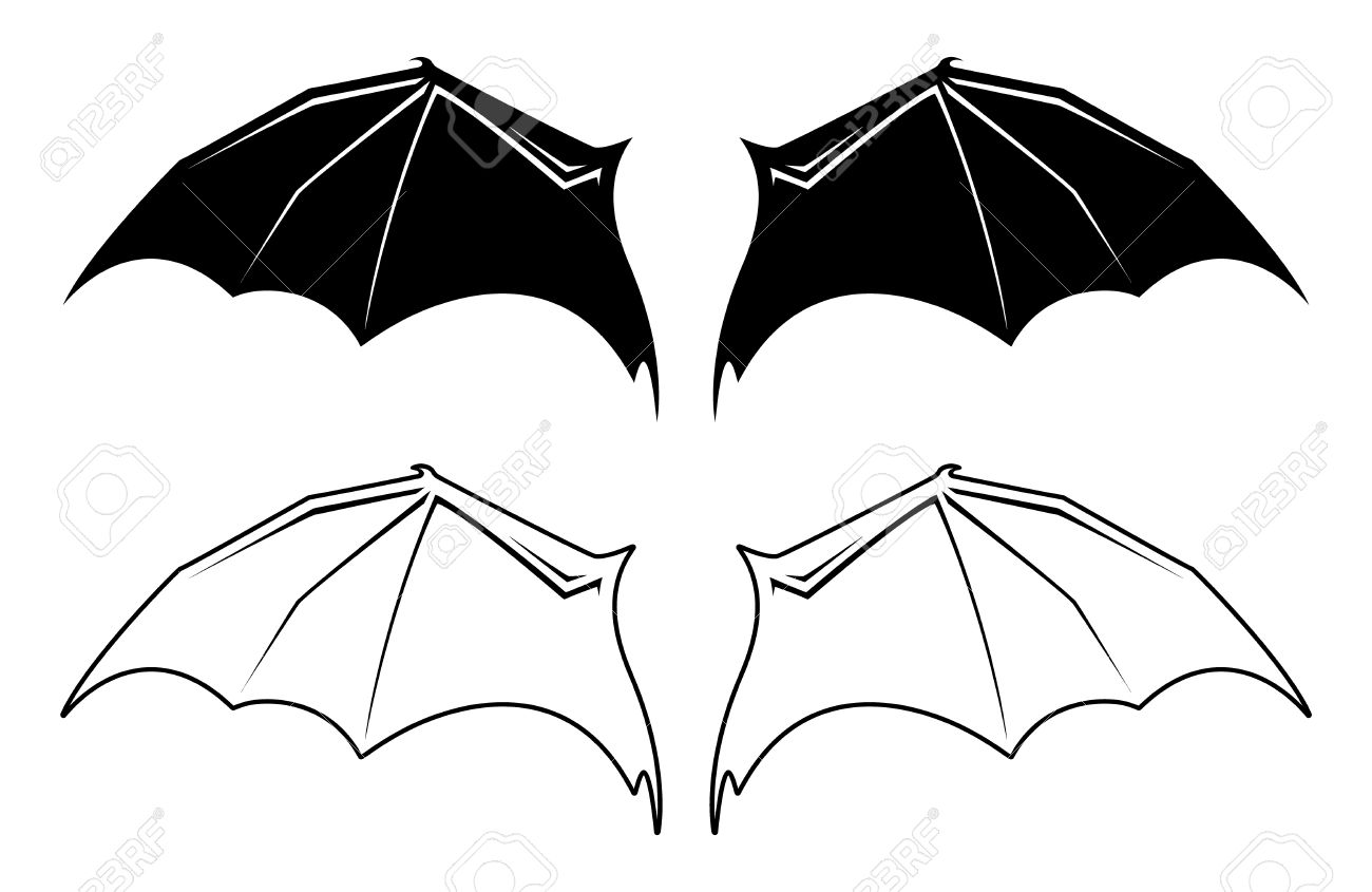 Black and white bat wing illustrations royalty free cliparts black and white bat wing illustrations stock vector 12091456 buycottarizona Image collections