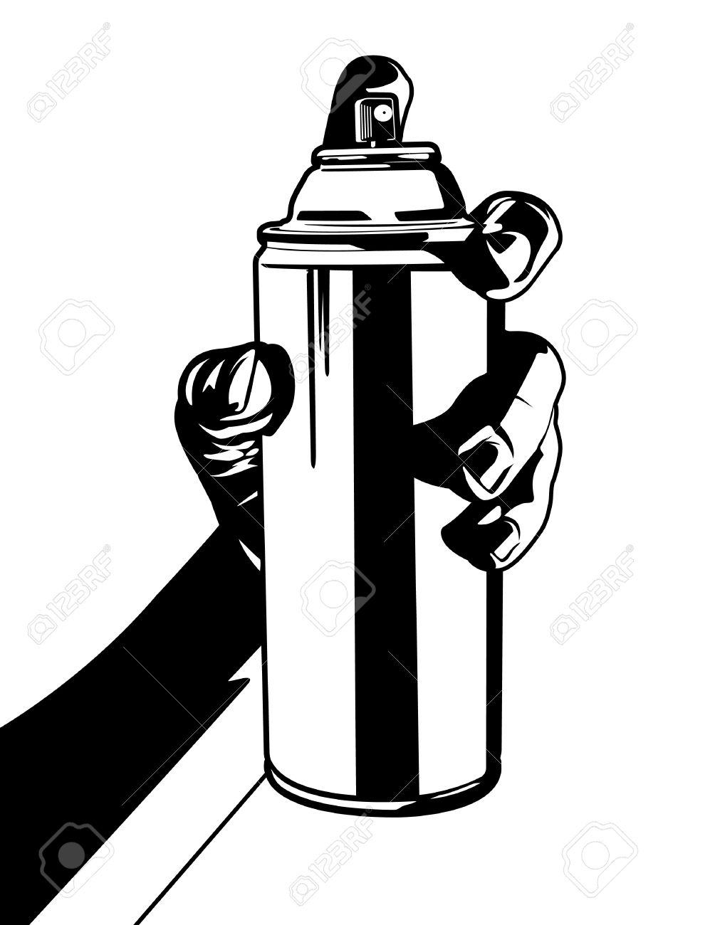 Hand Drawing Spray Cans For Graffiti Vector Illustration