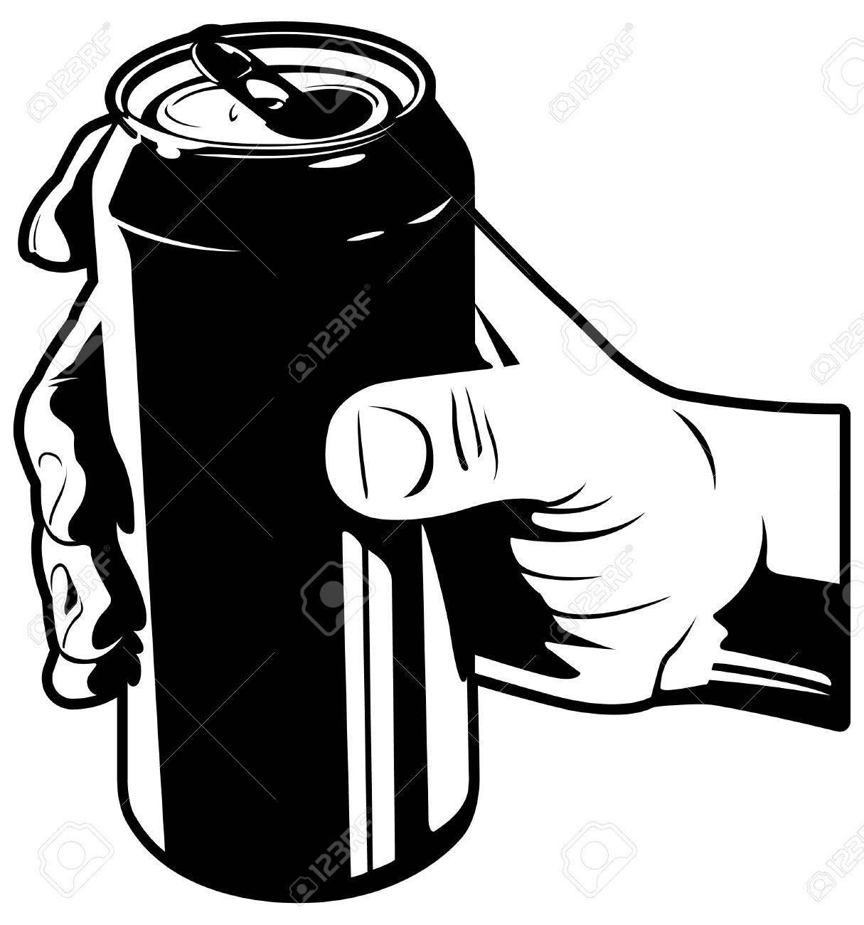 Hand with Soda Can Stock Vector - 12093453