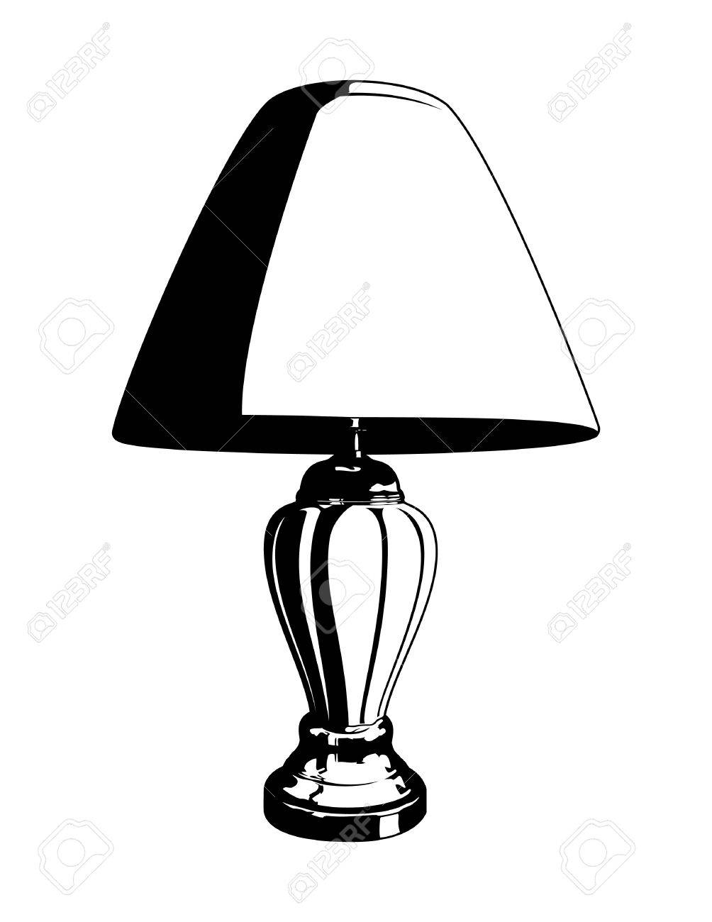 Lamp Vector Royalty Free Cliparts, Vectors, And Stock Illustration ... for Clipart Lamp Black And White  545xkb