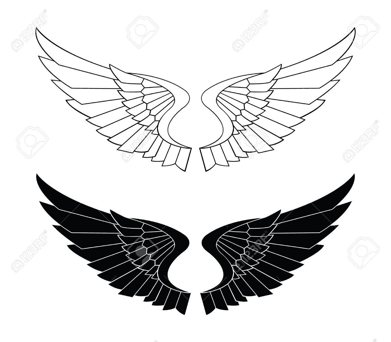 Bladed Wings clipart  Eagle Wings Clipart