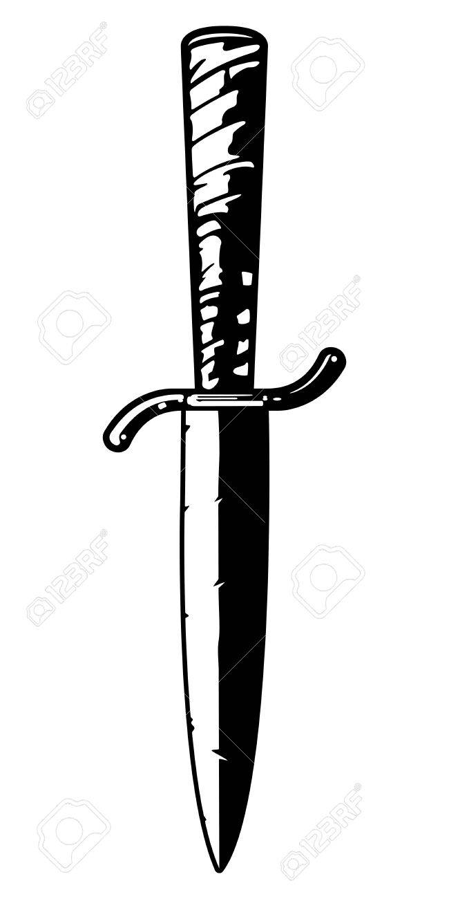 Antique Knife Stock Vector - 12093422