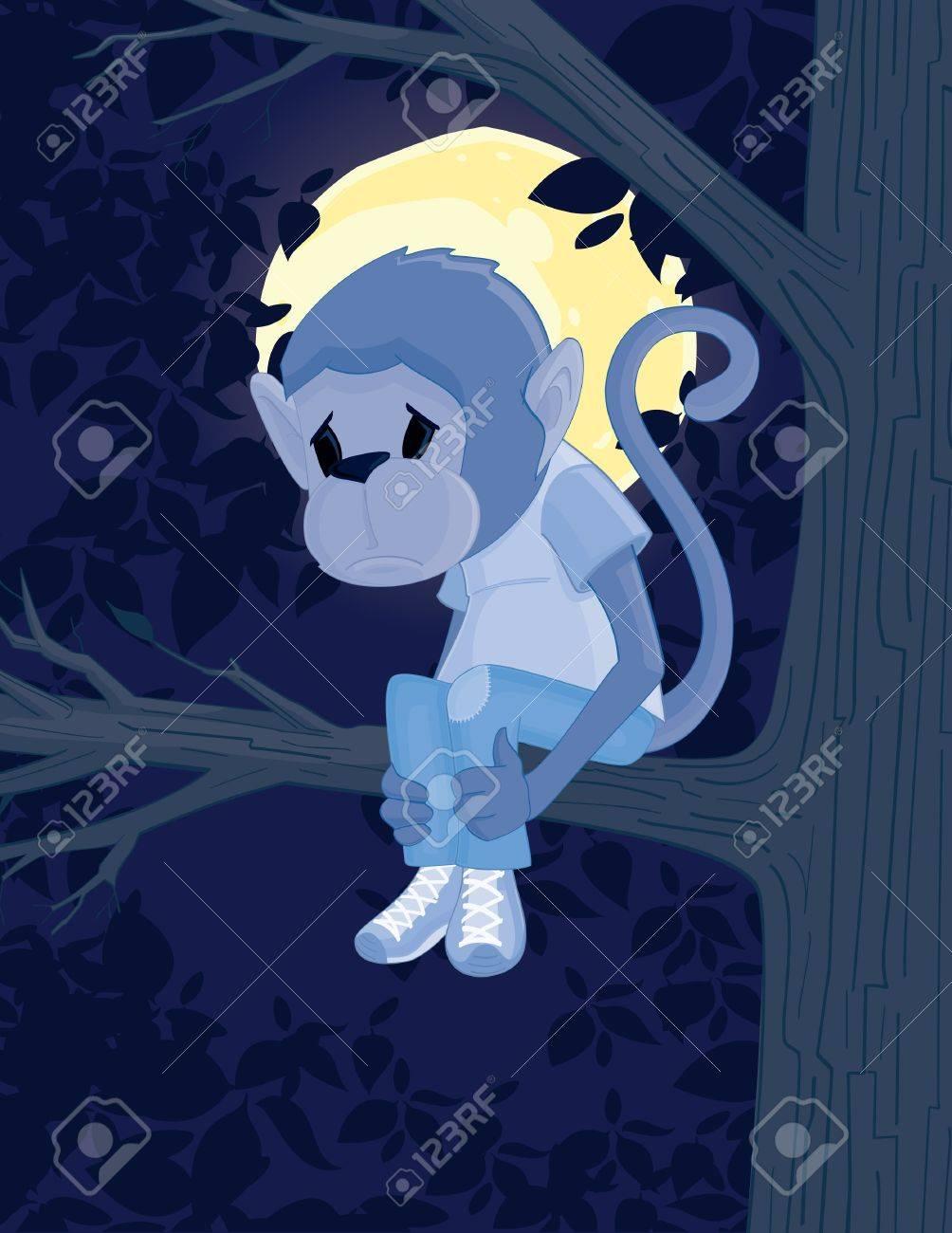 Sad Monkey Stock Vector - 12097376