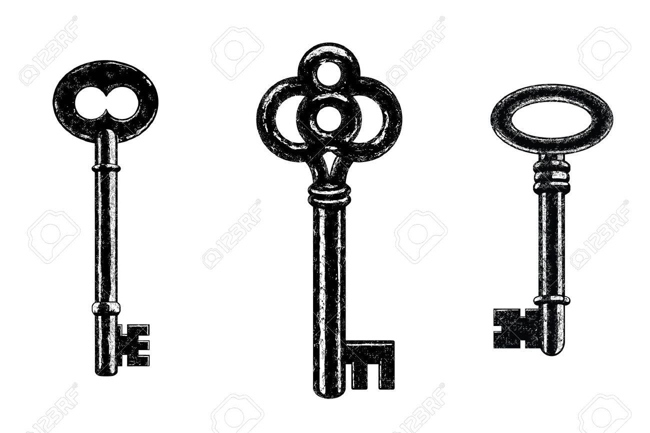 three vector skeleton keys royalty free cliparts vectors and stock rh 123rf com  old skeleton key vector