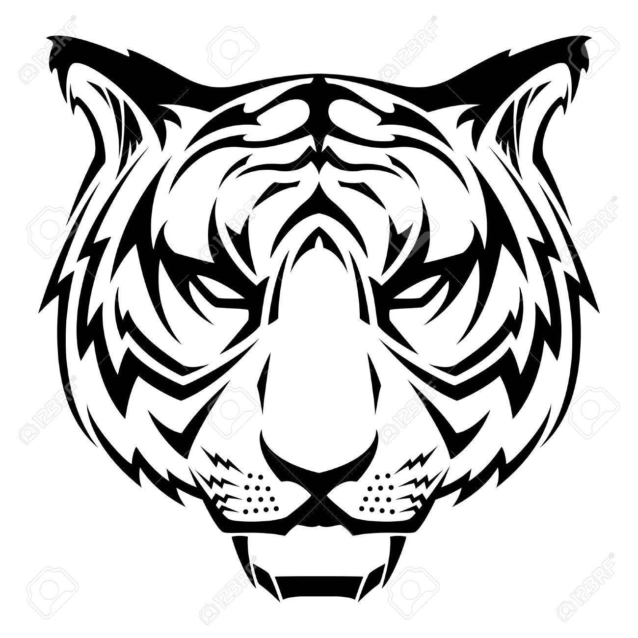 Tiger Tattoo Design Royalty Free Cliparts Vectors And Stock