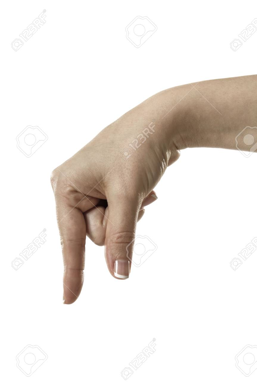 Finger Spelling the Alphabet in American Sign Language (ASL) Stock Photo - 6695629