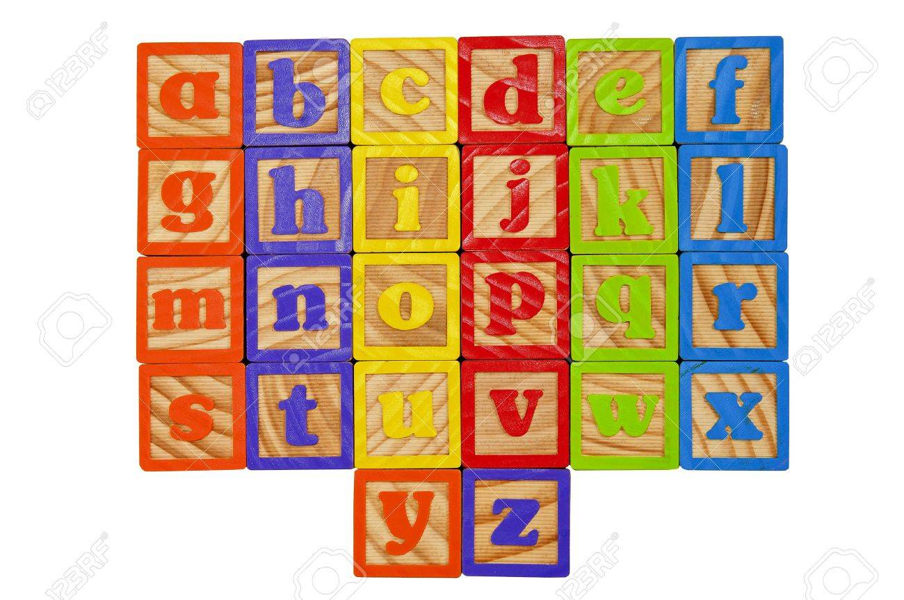 Childrens Alphabet Blocks of the whole alphabet in Lower case letters Stock Photo - 7280095
