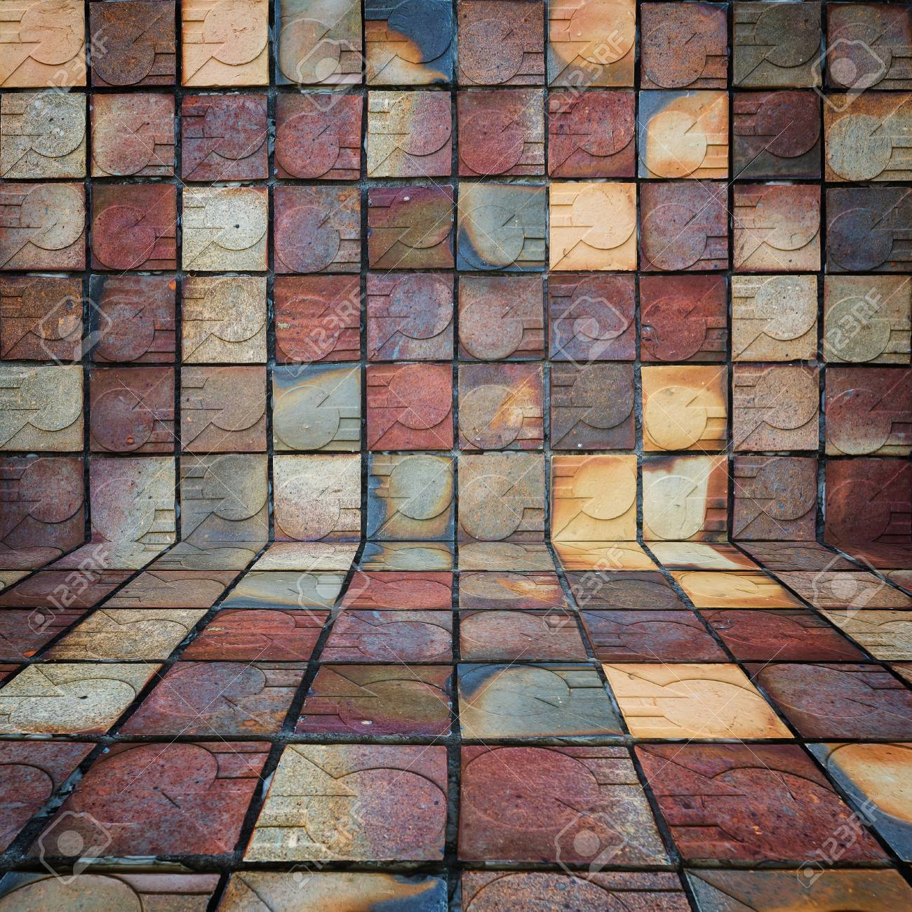 Beautiful Baked Clay Ceramic Tile Old Art Background Stock Photo Picture And Royalty Free Image Image 89436521
