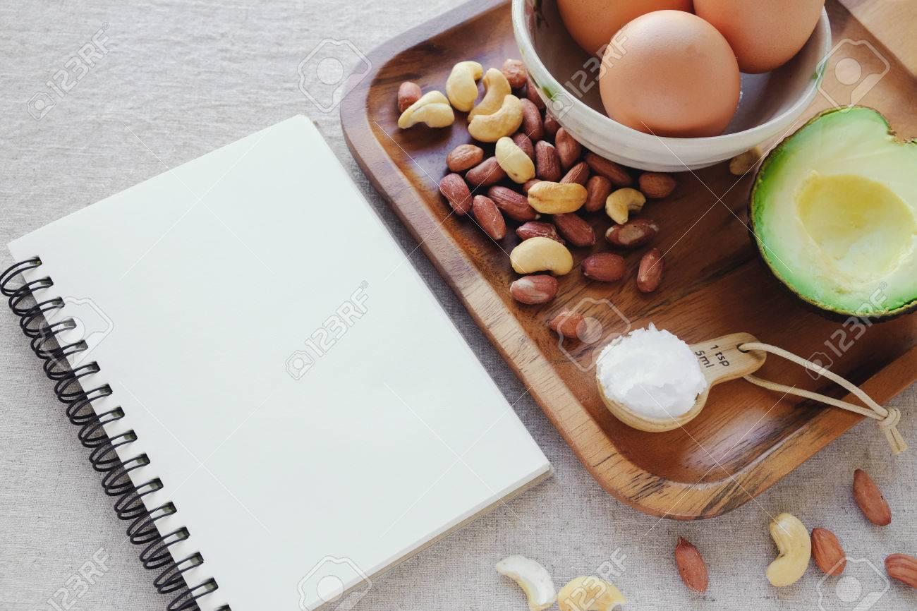 Ceto Dieta Cetogenica Paleo Baja En Carbohidratos Alta En Proteinas Y Grasa Con Bloc De Notas Plan De Alimentacion Saludable