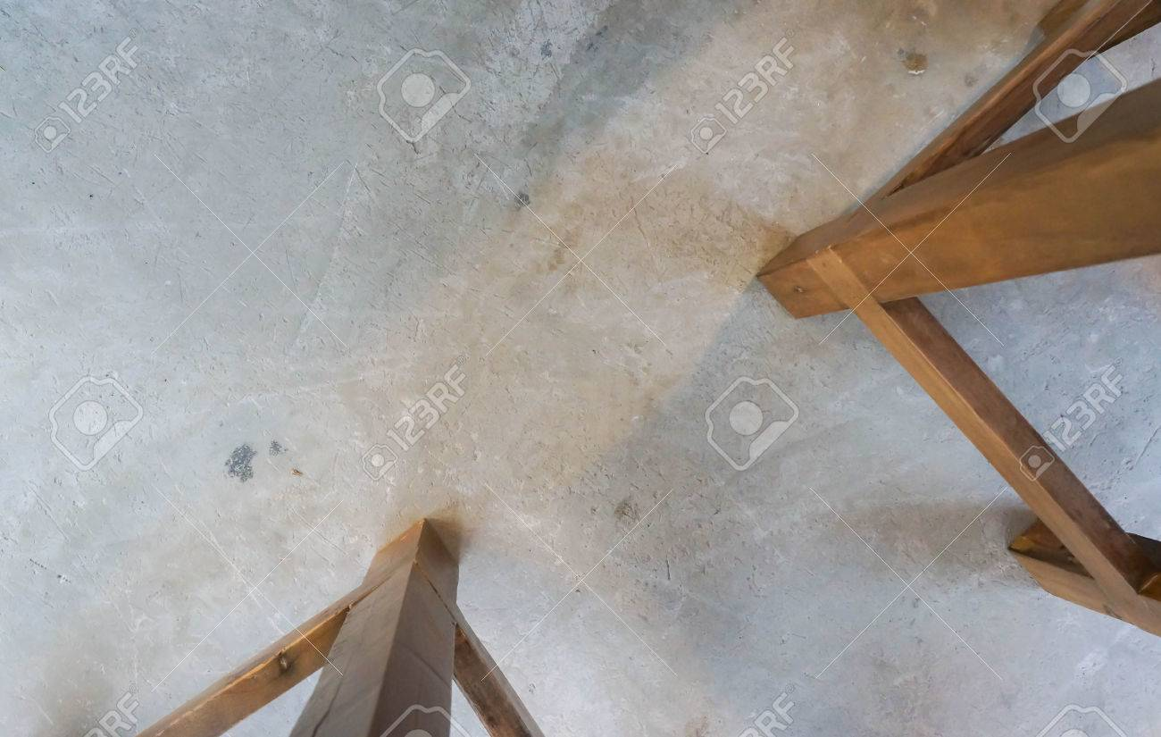 Top View Leg Chair On Cement Floor Stock Photo Picture And