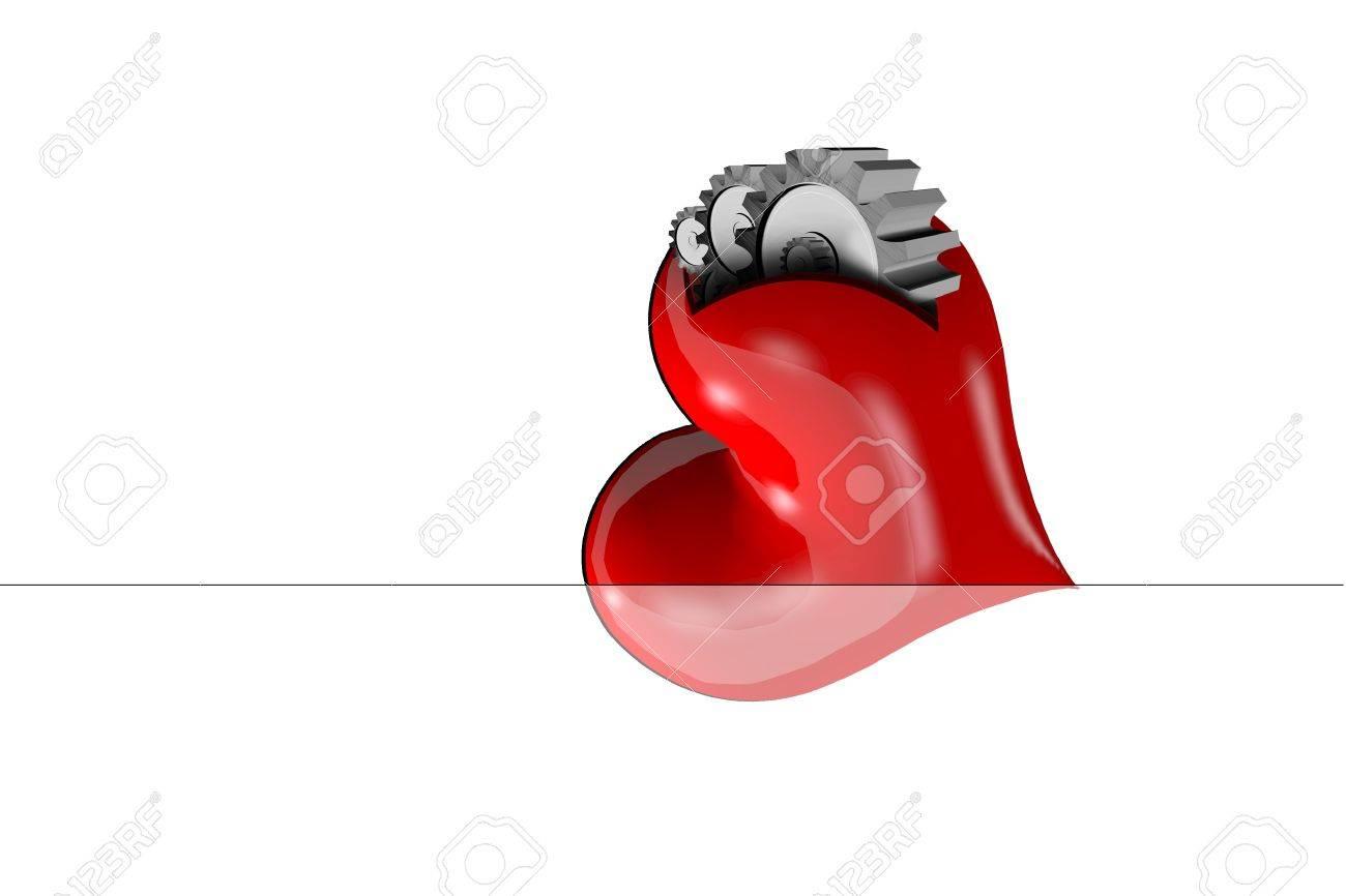 Heart, not machines Stock Photo - 15218724
