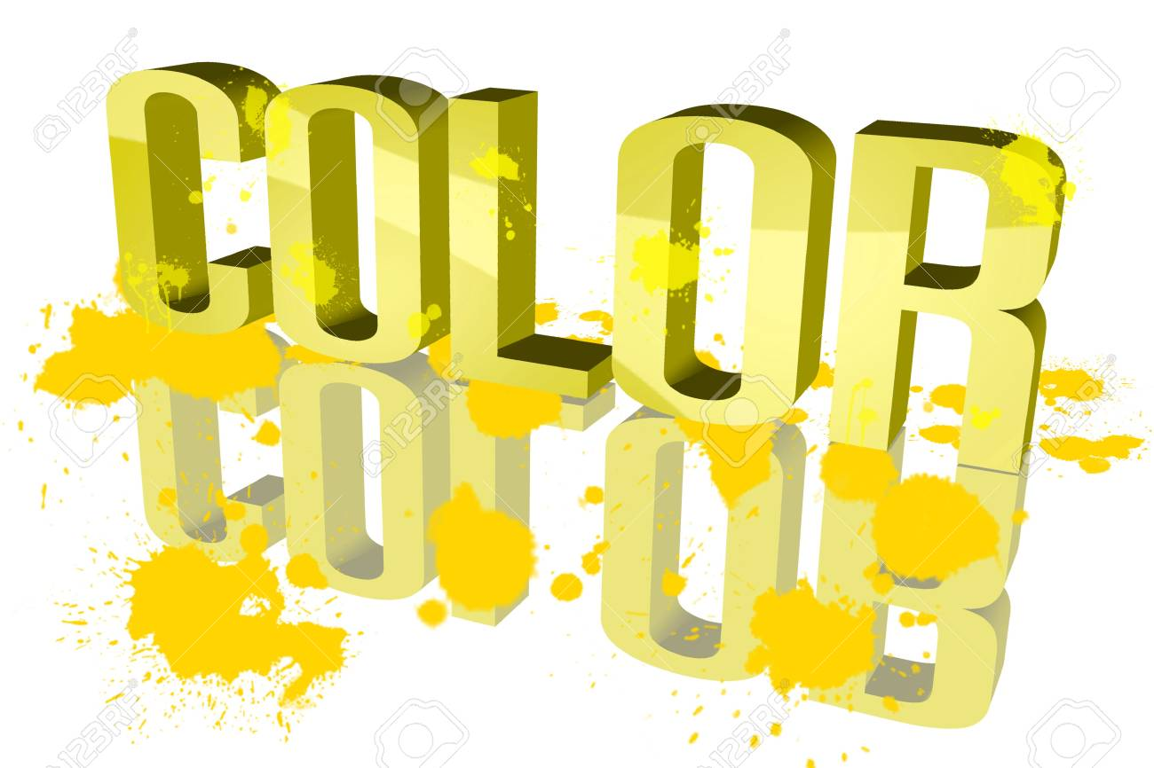 Color distribution Yellow Stock Photo - 15571910
