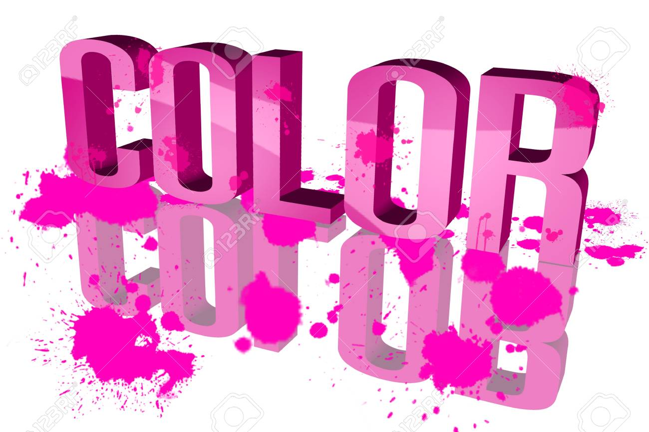 Color distribution Pink Stock Photo - 15571878