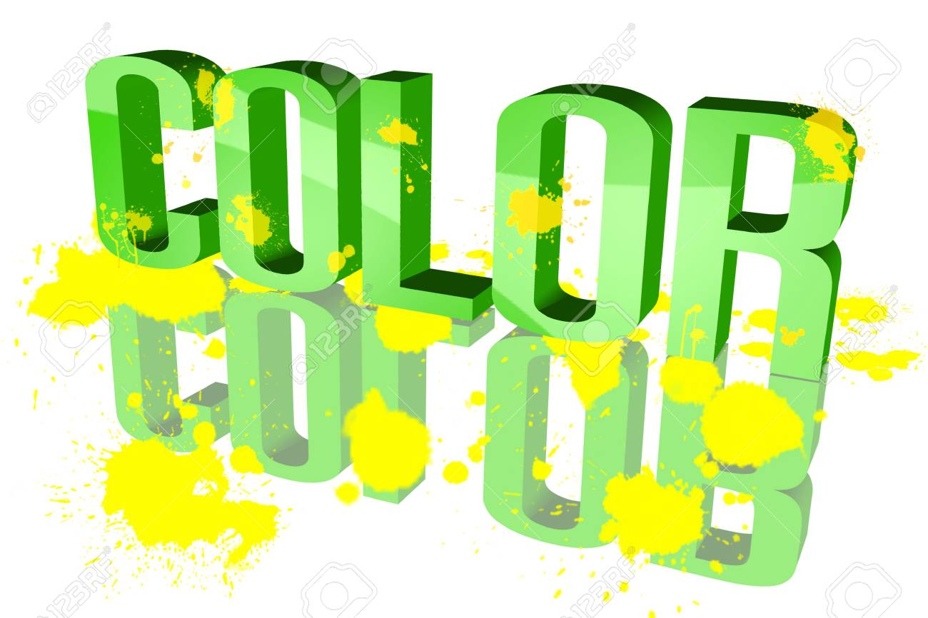 Colors sixth sloppy Stock Photo - 15578431