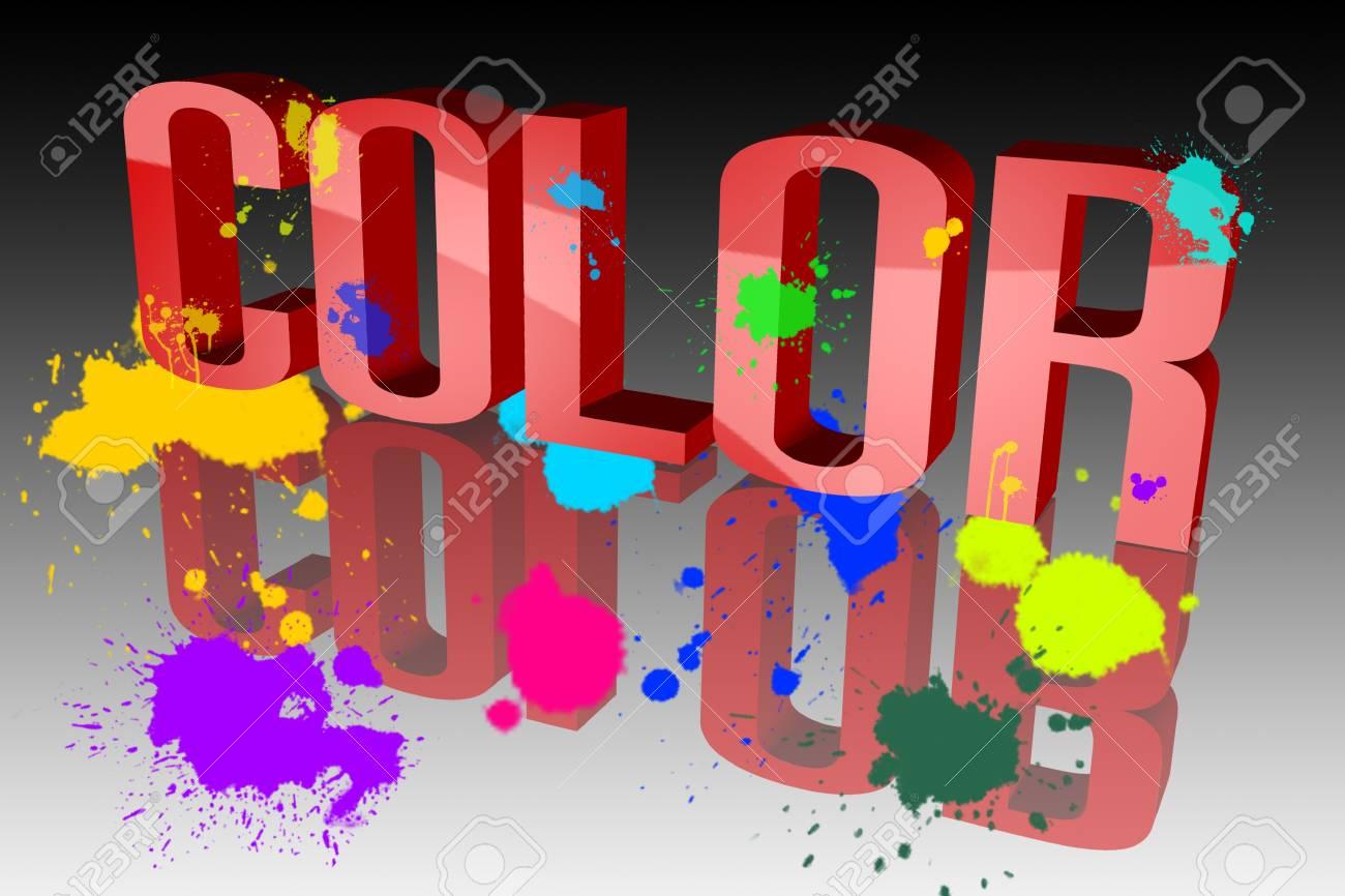 Colors sixth sloppy Stock Photo - 15578420